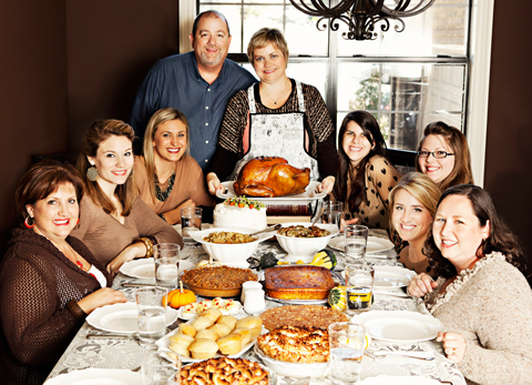 Family thanksgiving feast